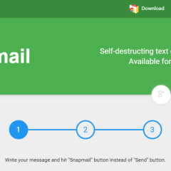 Snapmail, emails que se autodestruyen: extensión Chrome para Gmail