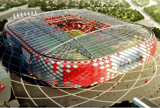Оформление стадиона