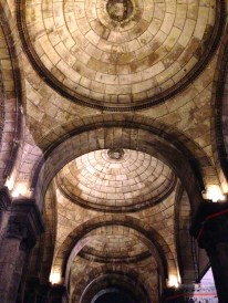 The domes of the Sacre Couer from inside