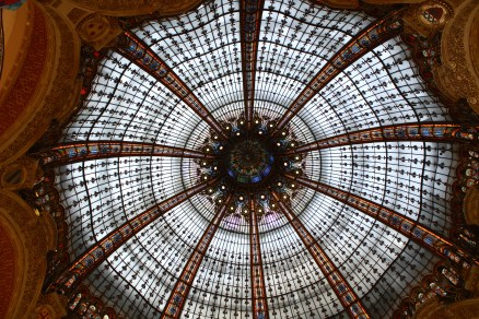 The stained glass dome in Galeries Lafayetter