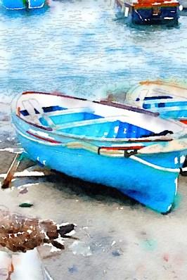 Blue boat, Capri