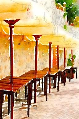 Cafe, San Gimignano