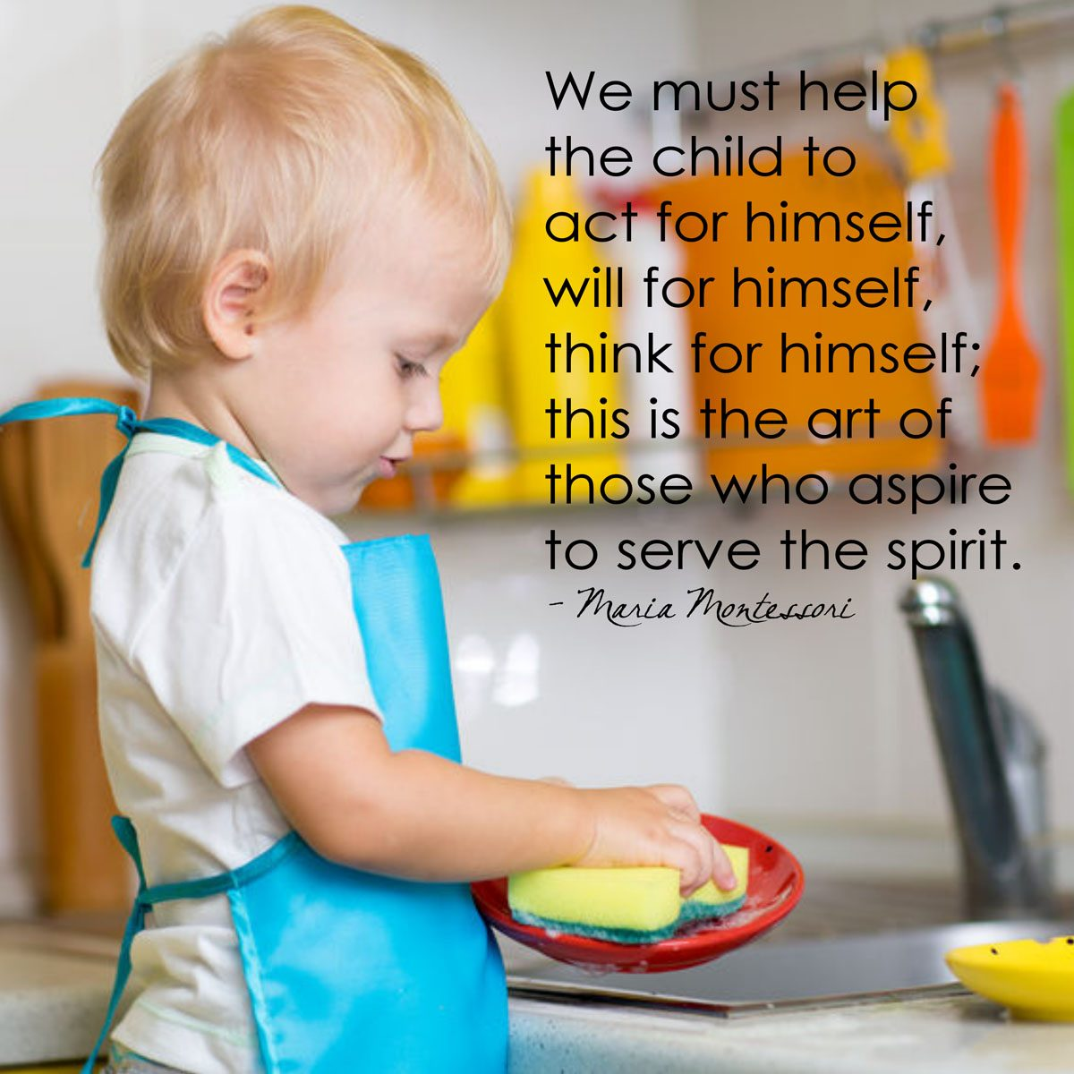 Help The Child To Act For Himself Montessori Word Art
