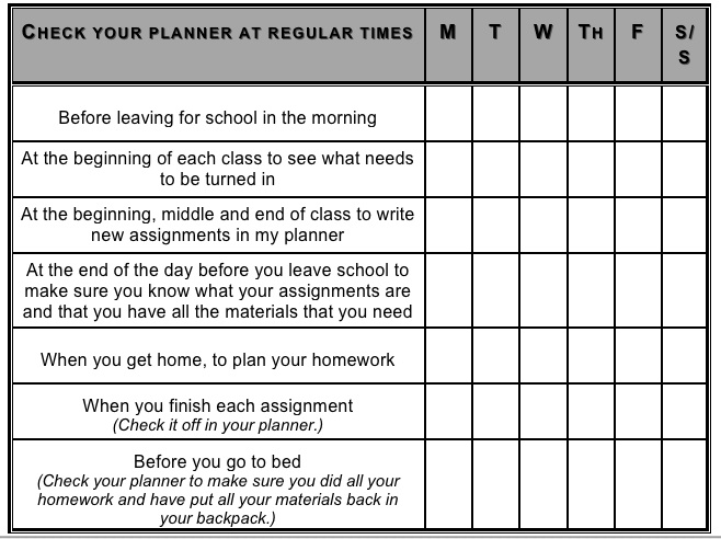 Middle School Students Need Strong Organizational Skills ...