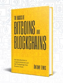 The basics of bitcoins and blockchains - book cover