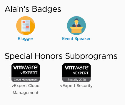 vExpert badges.