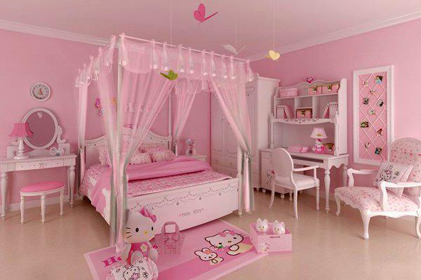 design interior kamar tidur anak perempuan