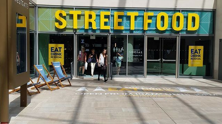 Westgate Social at Westgate Oxford Street Food Signage | Image Credit Boys and Girls Promotions
