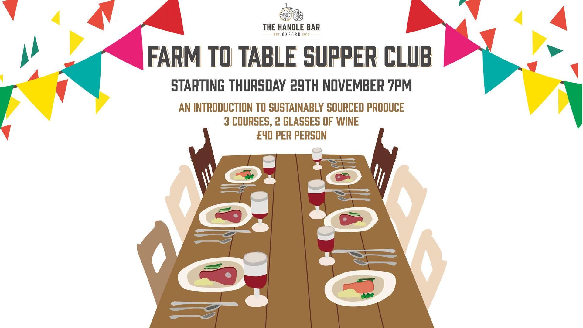 Handle Bar Farm to Table Supper Club