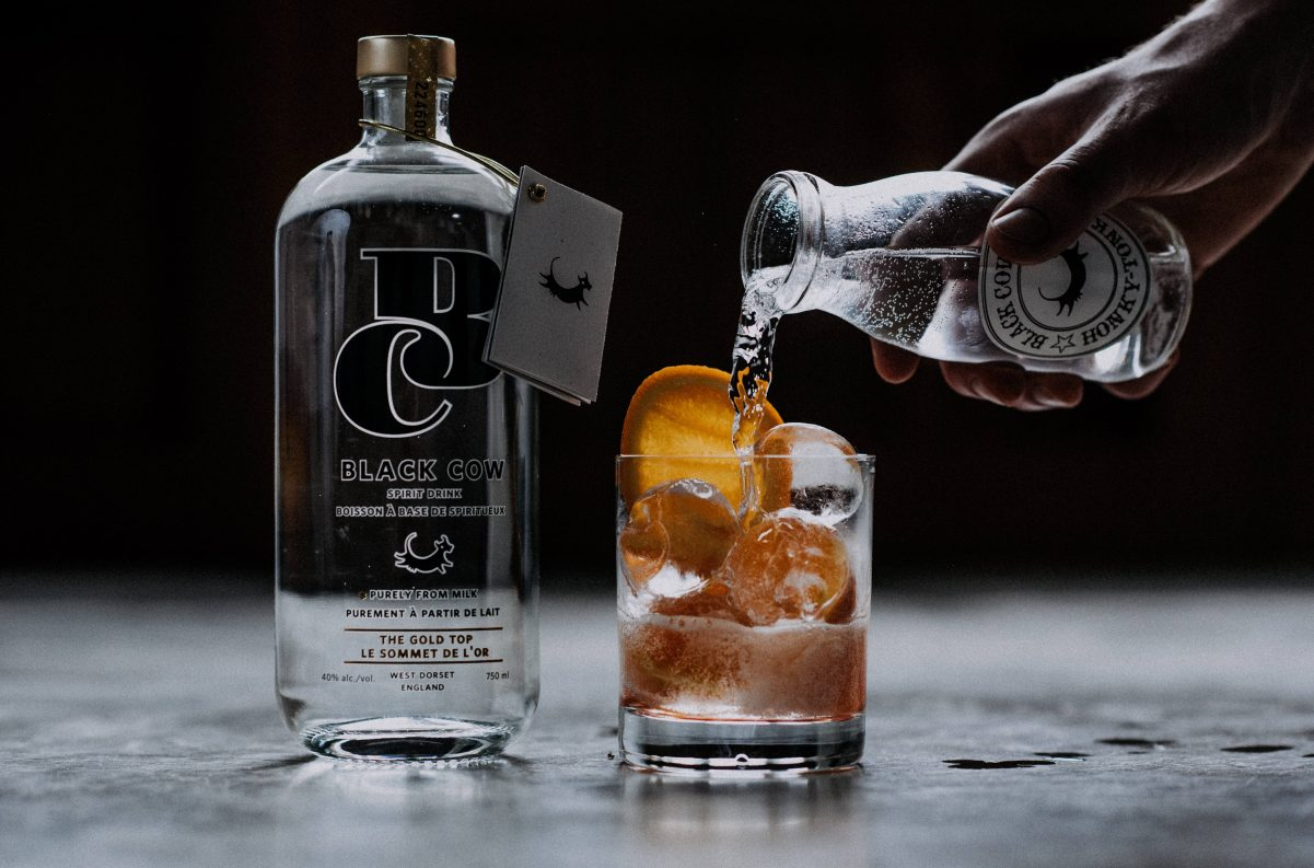 Pink Cow & Tonic with BlackCowVodka (1)