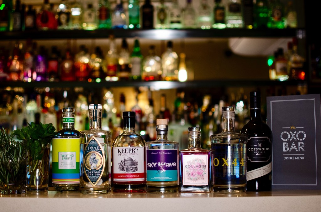 Oxfordshire Gins, Bitten Oxford | Image Credit Shannon Dudley Photography