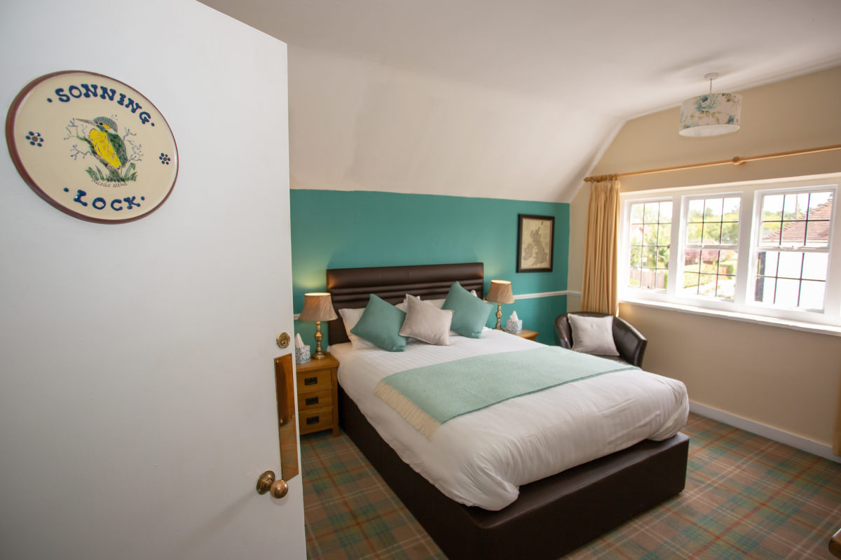 Guest room at The Baskerville, Lower Shiplake, Henley