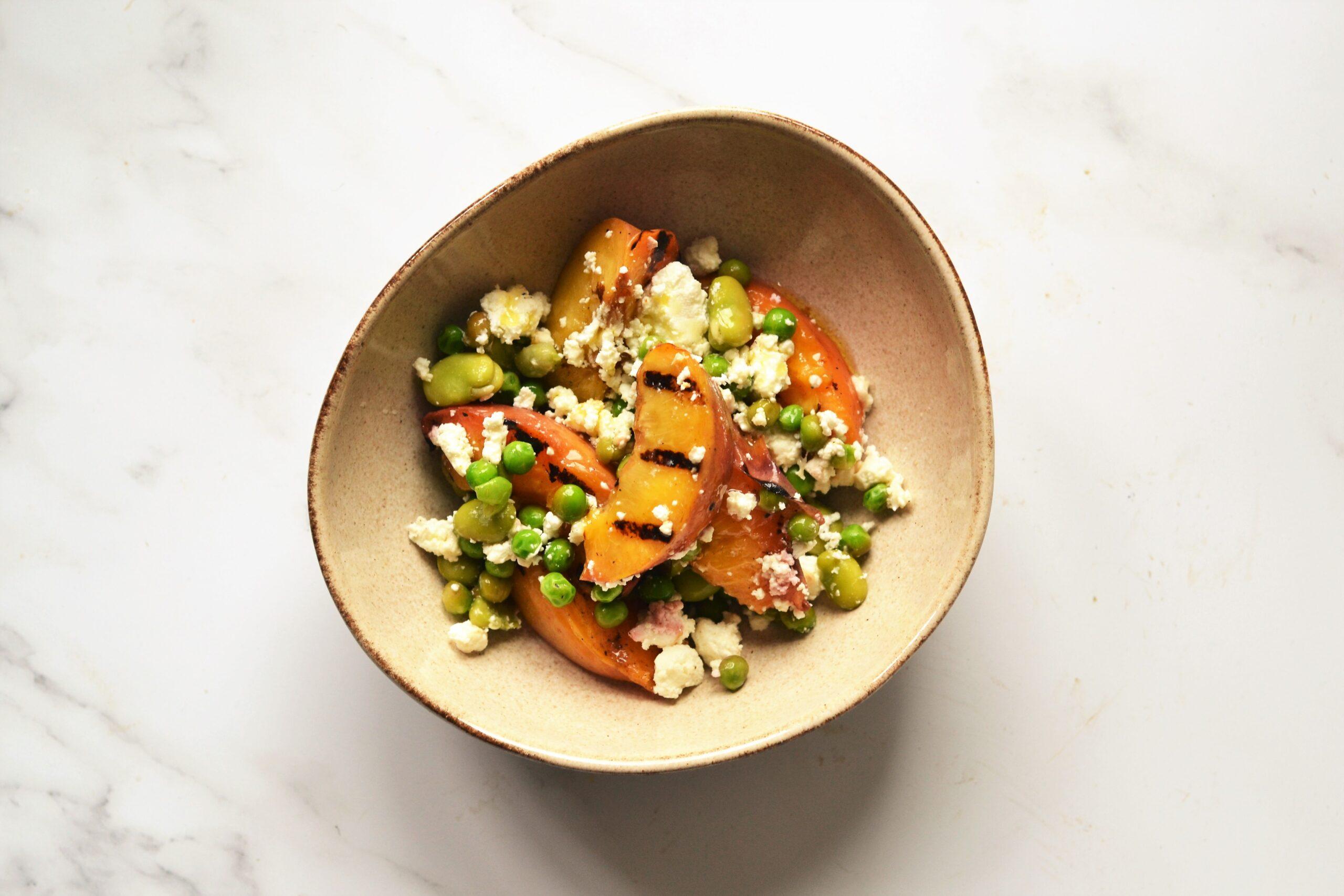 Lussmanns takeaway service nectarine salad | Image credit Bitten Oxford