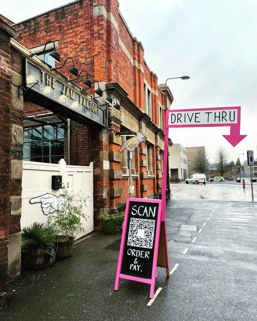 The Jam Factory, Oxford have launched a new takeaway menu with drive through click and collect