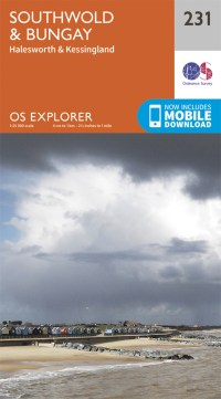 OS Explorer Map 231 - Southwold & Bungay, Suffolk