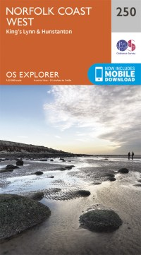 OS Explorer Map 250 - Norfolk Coast West