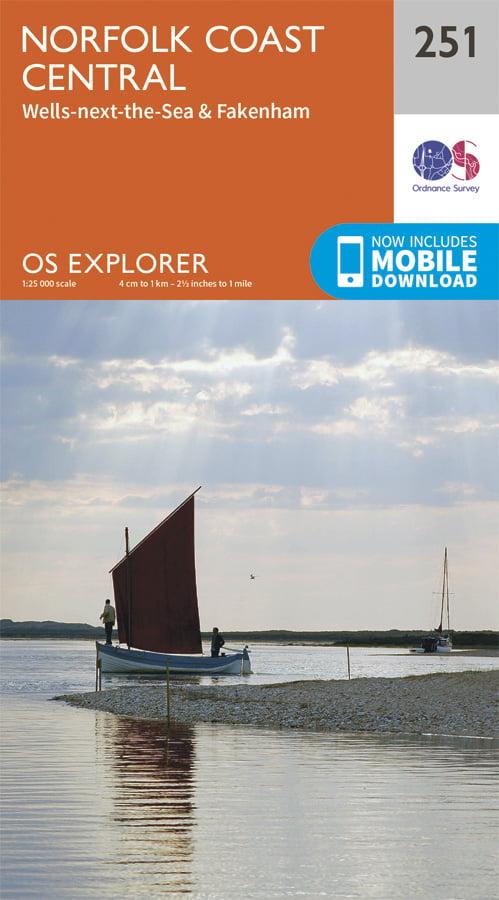 OS Explorer 251 Norfolk Coast Central Cover Image