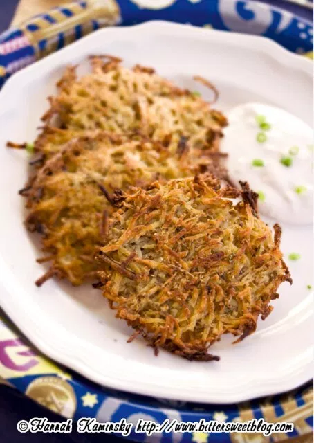 Baked Ginger-Scallion Latkes