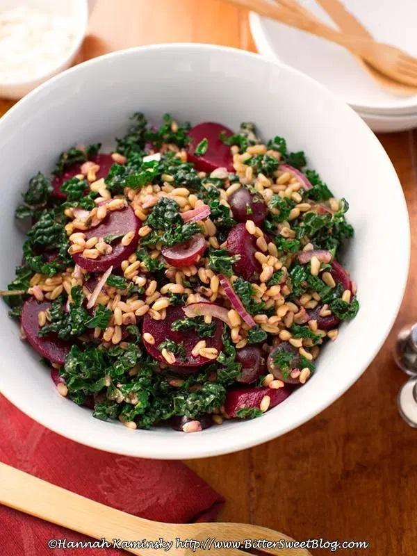 Kamut and Kale Salad