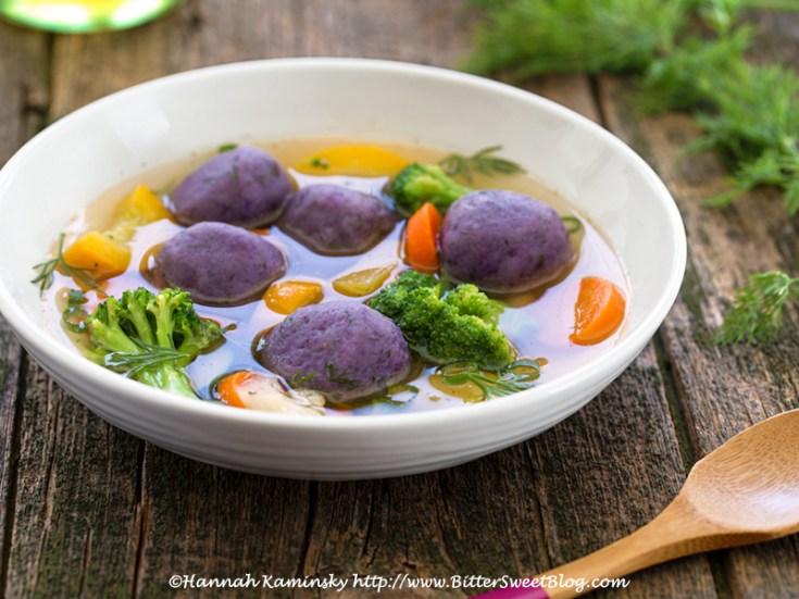 Purple Potato Kneidlach