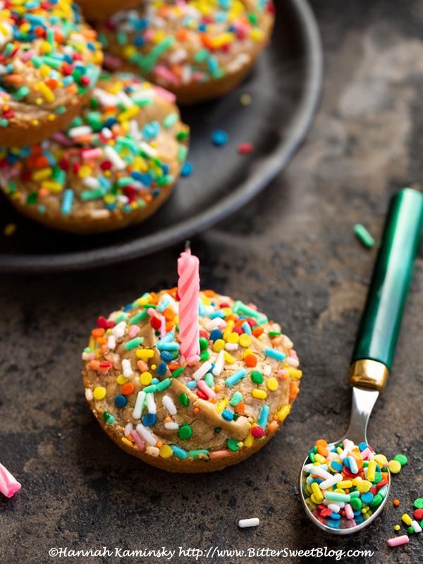 3-Ingredient Birthday Cake Blondie Bites