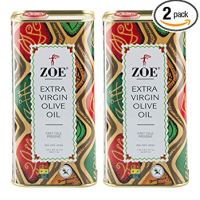 Zoe Extra Virgin Olive Oil, 1 Liter Tin (Pack of 2)