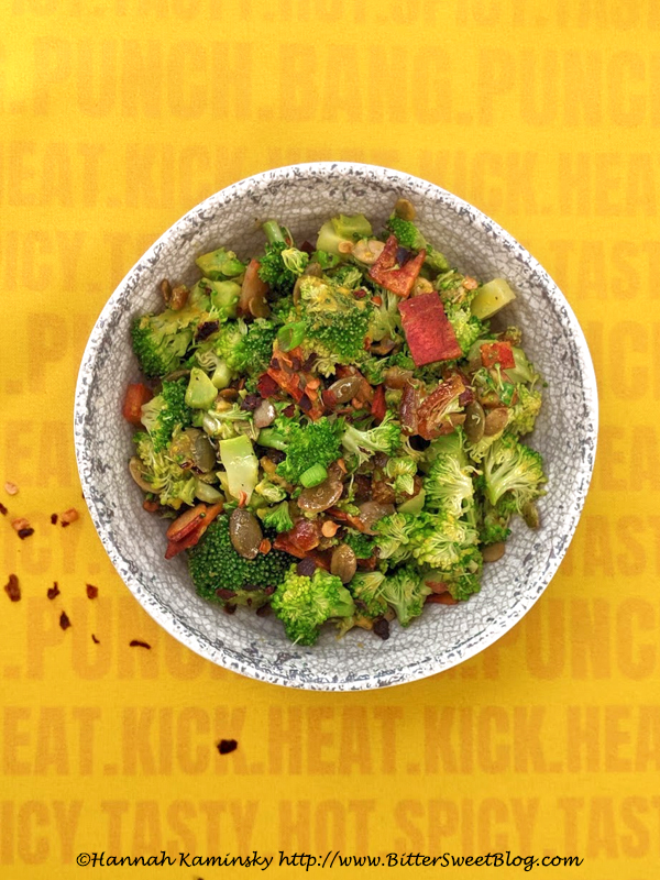Sweet and Spicy Broccoli Crunch Salad
