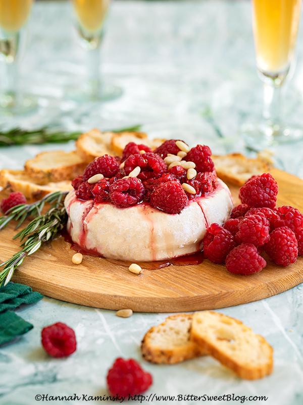 Vegan Brie with Raspberry-Balsamic Chutney