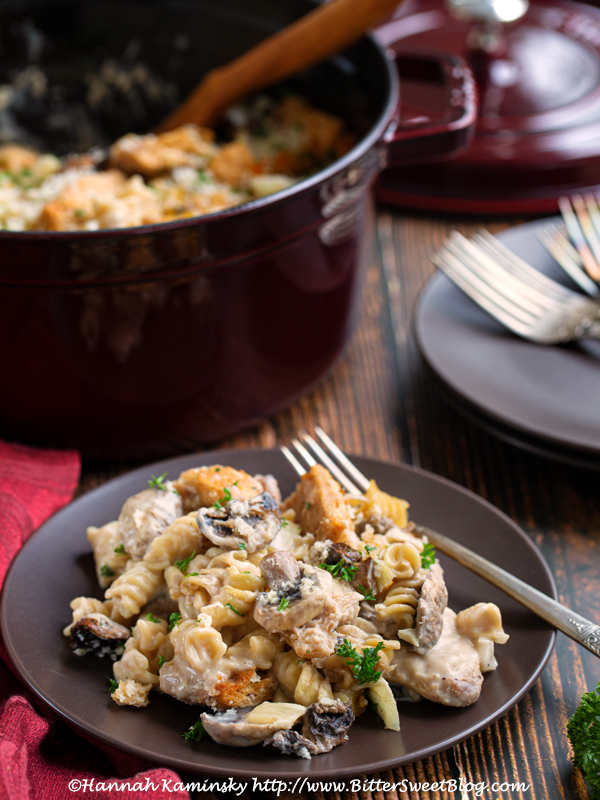 Dump-and-Bake Soy Curl Stroganoff