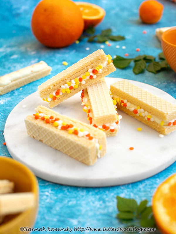 Orange Creamsicle Sandwiches