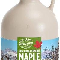 Butternut Mountain Farm Pure Vermont Maple Syrup, Grade A (Prev. Grade B), Dark Color, Robust Taste, All Natural, Easy Pour, 32 Fl Oz, 1 Qt