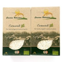 Organic Italian Carnaroli Risotto Rice, USDA Organic Rice, NON-GMO and Chemical Free – Carnaroli Rice that is Farmed in Italy, Best for Real Italian Risotto – Pack of 2, 17.64 oz each