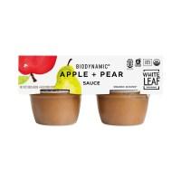 White Leaf Provisions Biodynamic Apple Sauce, Apple & Pear - Thrive Market