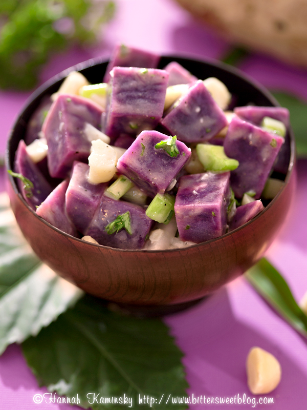 Okinawan Purple Potato Salad