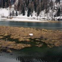 Winter lake in the Rhône-Alpes, France