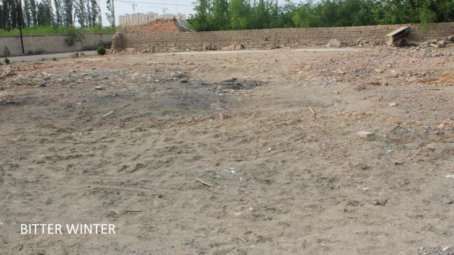 Site of leveled - mosque demolition
