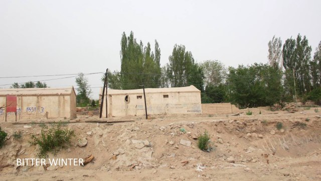 The demolished mosque