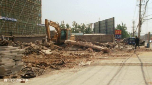 Dongguan Gospel Hall after demolition