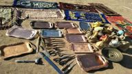 Some household items related to the Islamic faith that have been discarded