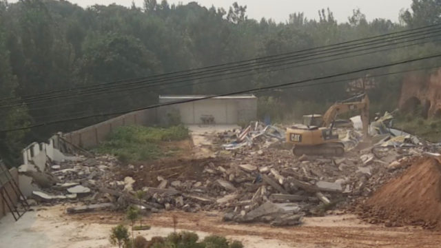 The church has become a pile of rubble. (provided by an inside source)