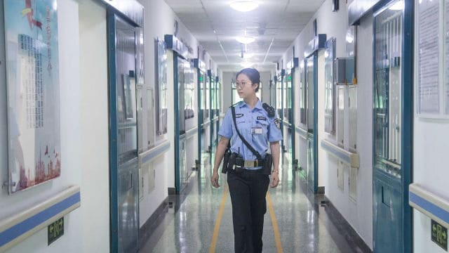 corridor in a prison