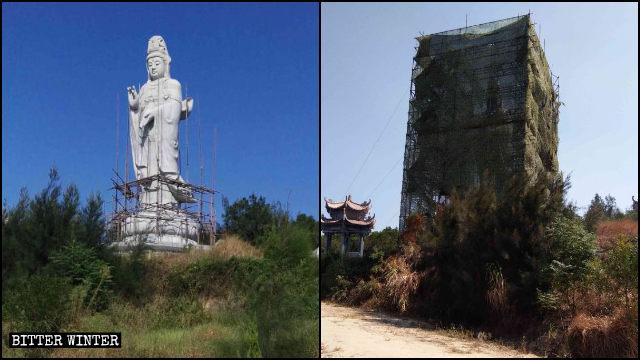 Guanyin statue located in Fujian's Putian city