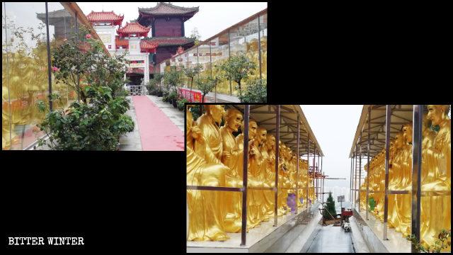 The outdoor statues of Shakyamuni Buddha