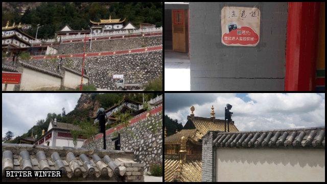监视摄像机覆盖了尤宁寺的处所。