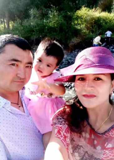 Bagila with husband and daughter. She is now in jail.