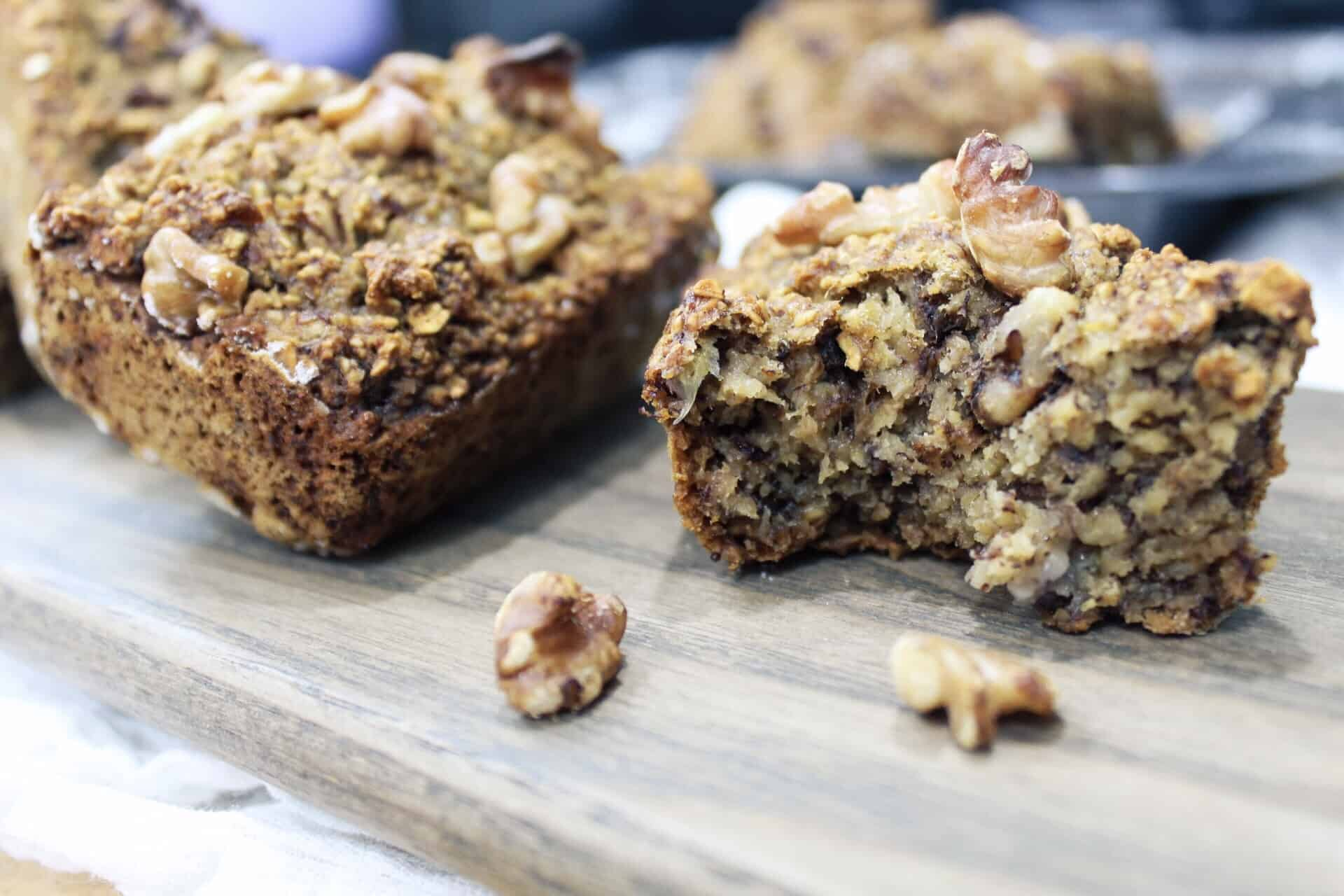 Mini Banana Oat bread (Vegan)