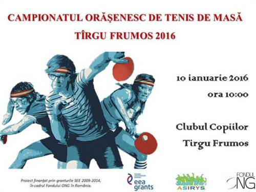 CAMPIONATUL ORĂŞENESC DE TENIS DE MASĂ