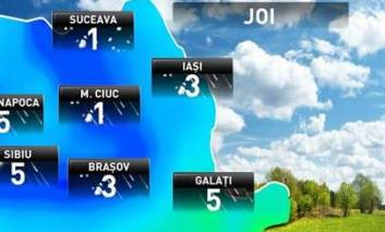 Cum se anunță vremea joi, în județul Iași!