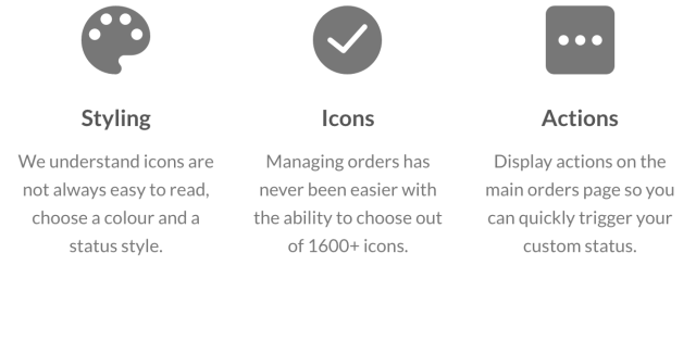 Styling, Icons and Actions