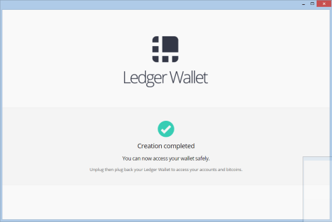Your wallet has been created successfully